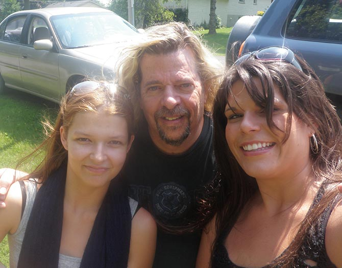 John with Callie Piticco and Lindsay Foley